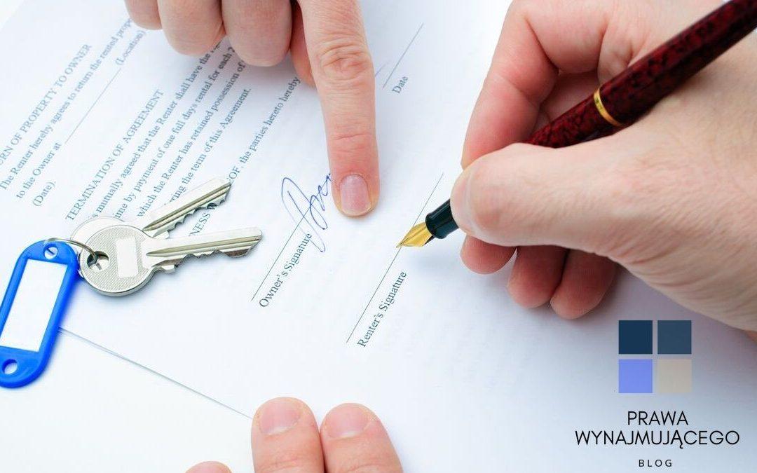 najem mieszkania, umowa jest najważniejsza!