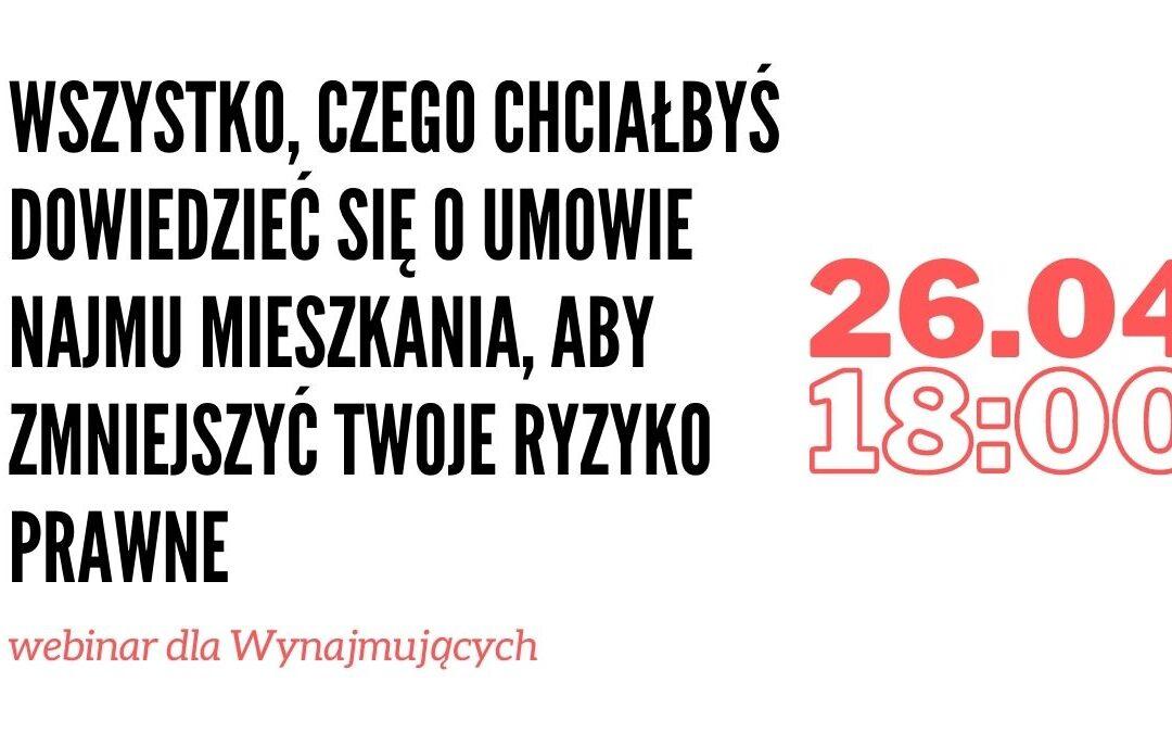 Webinar 26.04.2021 roku (start godzina 18.00)
